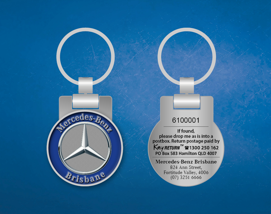Mercedes Benz Brisbane Front and Back Branded Keyring