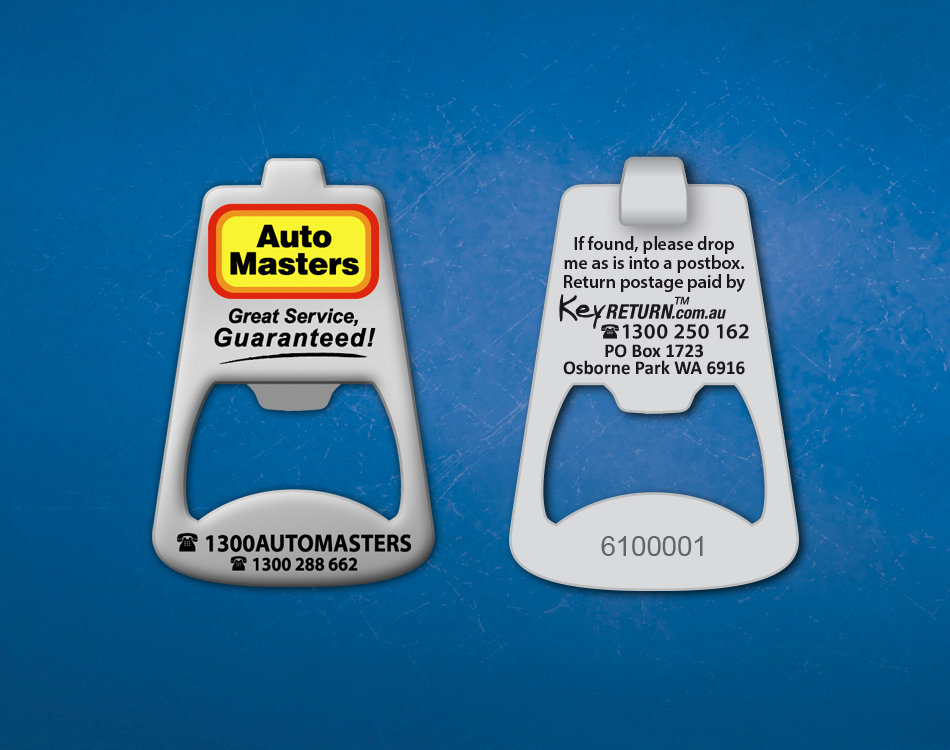 automasters_front_back_branded_keychain