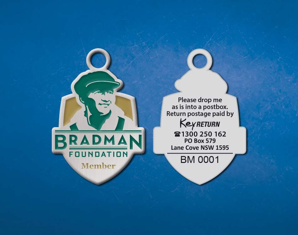 bradman_front_back personalised branded keyring