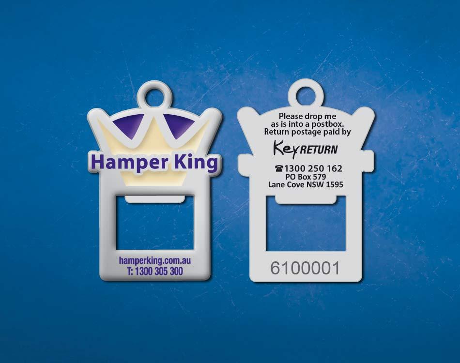 hamper_king_front_back_custom_keyring