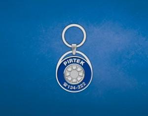 pirtek_front personalised branded keyring