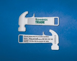 Bunnings Trade branded keyring Front & Back