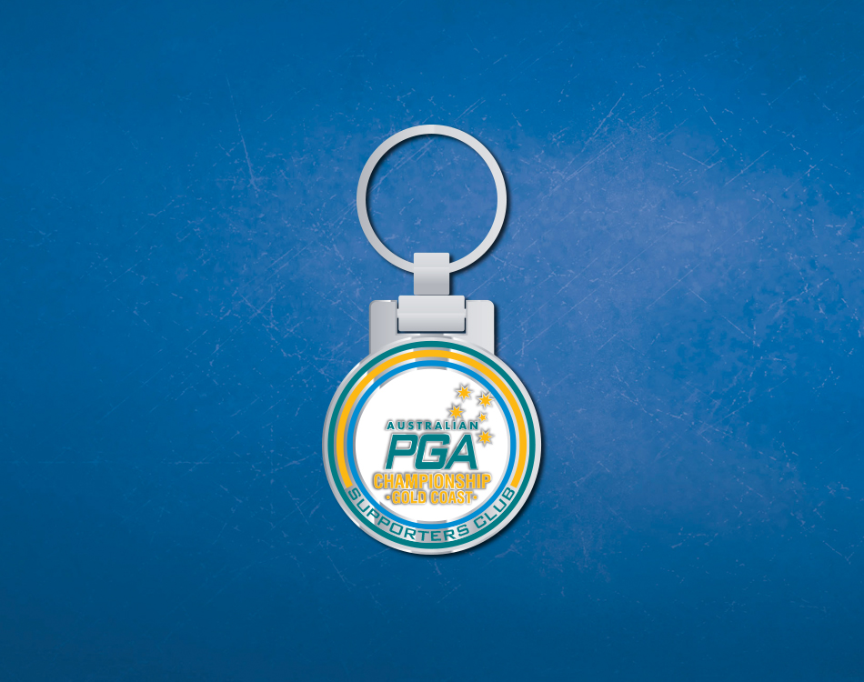 PGA personalised keyring