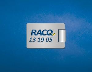 RACQ branded metal keyring