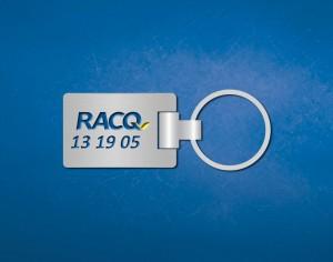 RACQ engraved branded keyring