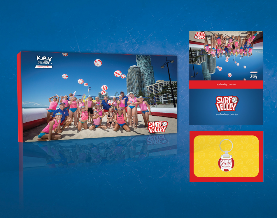 image of surf-volley promotional packaging